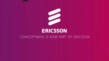 Conceptwave VP Robert Emery in the Ericsson Pavilion at MWC 2013